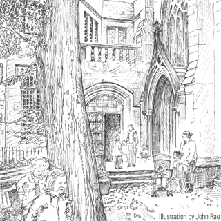 drawing of Grace Church School